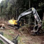 21T Excavator with Log Grabs